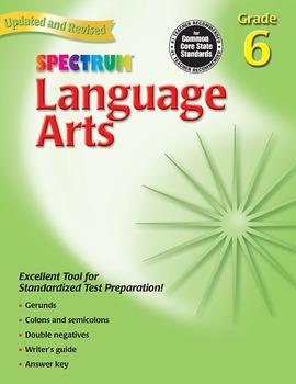 Spectrum Language Arts Grade 6 20% OFF! 0769653065