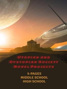 "Writing Activities ""Utopian and Dystopian Society Novel Projects"""
