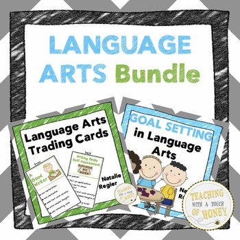 Language Arts Bundle: Trading Cards, Assessment, and Goal