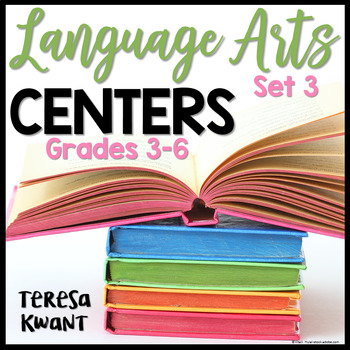 Language Arts Centers for 3rd, 4th, 5th, and 6th Grade Set 3