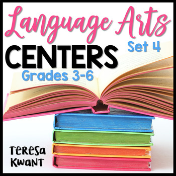 Language Arts Centers for 3rd, 4th, 5th, and 6th Grade Set 4
