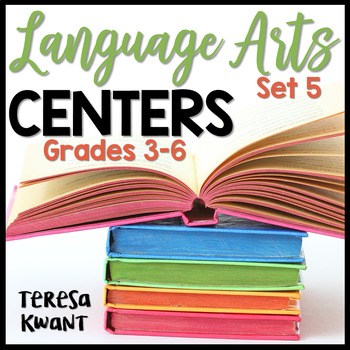 Language Arts Centers for 3rd, 4th, 5th, and 6th Grade Set 5