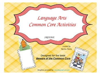 Language Arts Common Core Activities