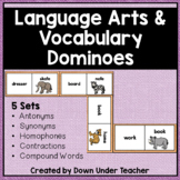 Language Arts Dominoes - Antonyms, Synonyms, Homophones, more