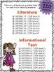 Language Arts Florida Standards (LAFS) 3rd Grade Checklist