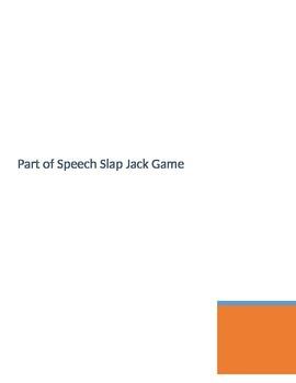 Language Arts Game Parts of Speech Slap Jack