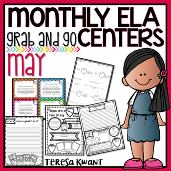 Literacy Centers for 3rd, 4th, 5th, and 6th Grade (May)