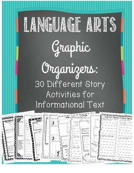 Language Arts Graphic Organizers: 30 CCSS Aligned for Info