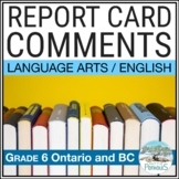 Language Arts Report Card Comments