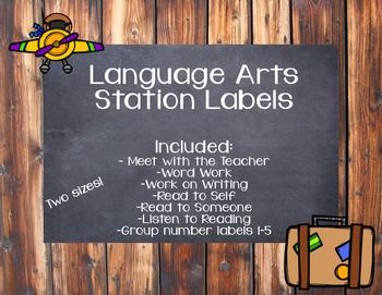 Language Arts Station Labels