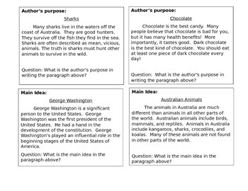 Language Arts Task Cards