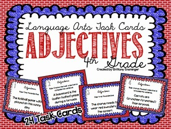 Language Arts Task Cards {Adjectives}