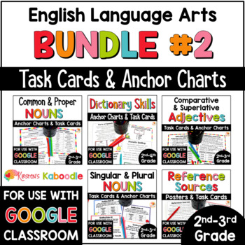 Language Arts Task Card and Anchor Chart MEGA BUNDLE for 2