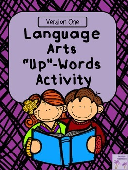 "Language Arts Terms ""Up"" Words Activity (Version One)"