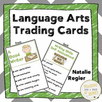 Language Arts Trading Cards: Mini Anchor Charts and Self-A