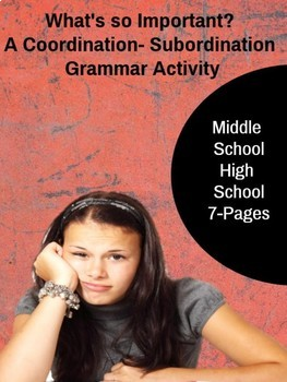 Grammar Activity - What's so Important? A Coordination/ Su