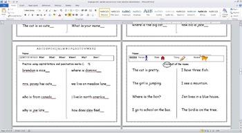 Language Arts Workbook: Capitals, Punctuation, Parts of Speech