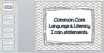 Language Arts and Literacy Pre-K Common Core Guidelines I