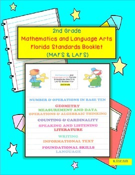 Language Arts and Math Florida Standards Flipchart for 2nd Grade