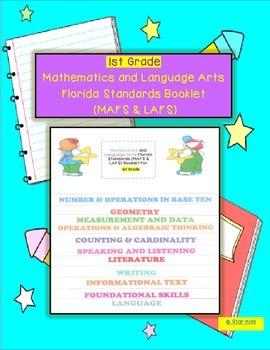 Language Arts and Math Florida Standards Flipchart for 1st Grade