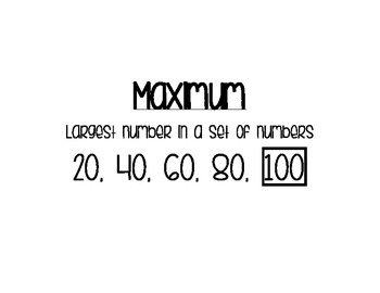 Language Arts and Math Word Cards