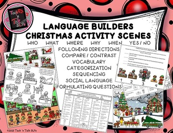 Language Builders Christmas Activity Scenes