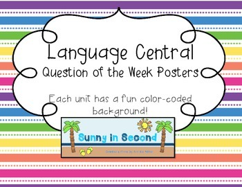 Language Central - Question of the Week Posters - 4th Grade