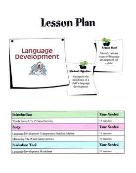 Language Development Lesson