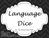 Language Dice: Black & White Language Games