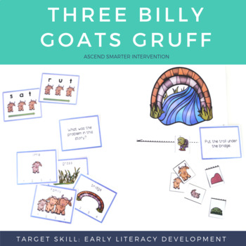 Language & Early Literacy Task Cards - Three Billy Goats Gruff