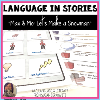 Language Activities for Max & Mo Let's Make a Snowman Spee