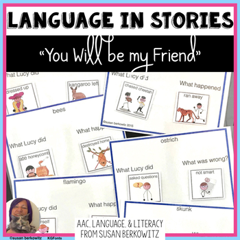You Will Be My Friend Language Activities for speech thera