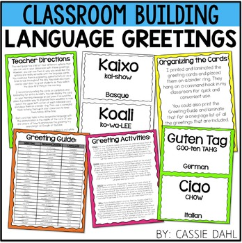 Foreign Language Greeting Cards- Morning Meeting