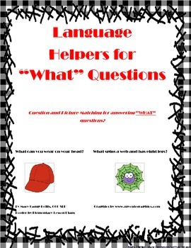 "Language Helpers for ""WHAT"" Questions"