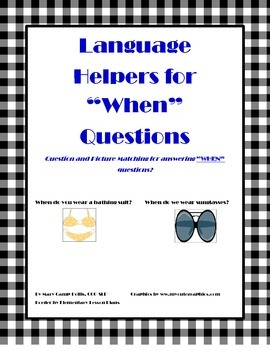 """Language Helpers for """"WHEN"""" Questions"""