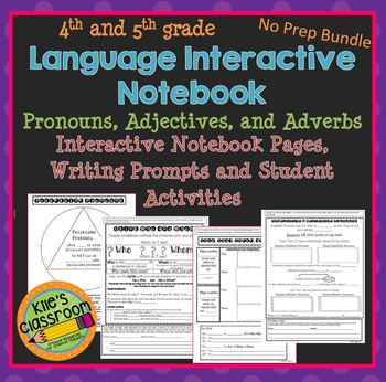 Language Interactive Notebook- Adjectives, Pronouns, and Adverbs