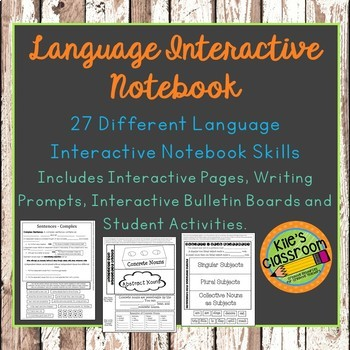 Language Interactive Notebook Bundle- Language Conventions