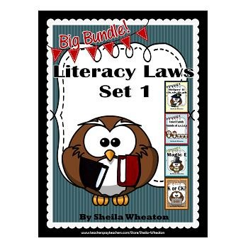 Literacy Laws Bundle - Set 1:  Reading & Writing Tools for