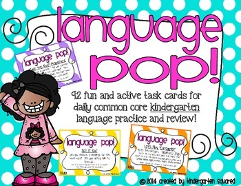 Language POP!  Active Task Cards for Common Core Kindergar