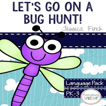 "Language Pack: ""Let's Go on a Bug Hunt!"" for speech therapy"