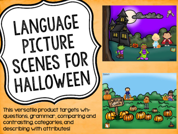 Language Picture Scenes for Halloween