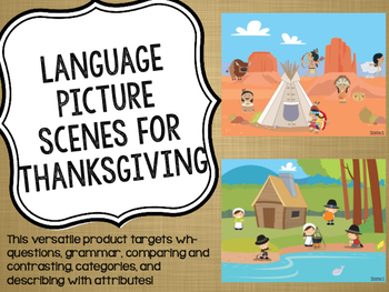 Language Picture Scenes for Thanksgiving