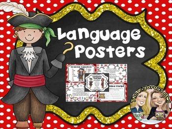 4th Grade Grammar Language Anchor Charts Pirate Themed