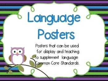 Language Posters to Supplement Common Core Standards