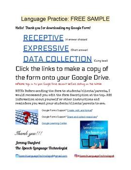 Language Practice: FREE SAMPLE Google Form