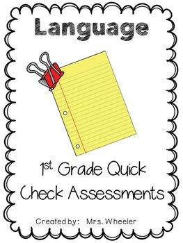 First Grade Language Exit Slips