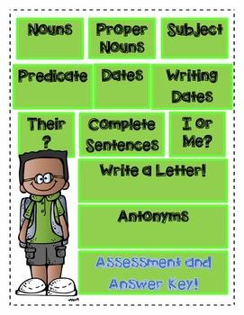 Language Assessment: Nouns, Pronouns, Subject, Predicate a