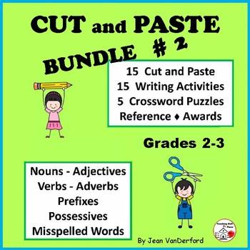 Language Skills 2 | Cut, Paste | Writing | NO PREP | + Cro