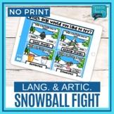 Language Snowball Fight Bundle - No Print