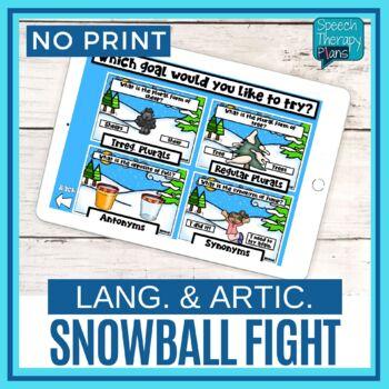 No Print Language Snowball Fight Bundle